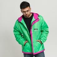 Stüssy Honeycomb Hooded Jacket zelená / fialová