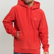 Stüssy Stock Logo Hood světle červená