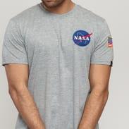 Alpha Industries Space Shuttle Tee melange šedé
