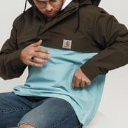 Carhartt WIP Nimbus Two Tone Pullover světle modrá / tmavě olivová