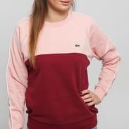 LACOSTE Women's Crew Neck Fleece Sweatshirt růžová / vínová