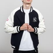 New Era MLB Raglan Varsity Jacket NY navy / bílá