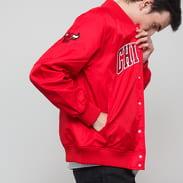 New Era NBA Team Wordmark Jacket Chicago Bulls červená