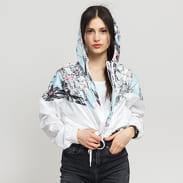Nike W NSW Hyp FM Jacket Crop WR AOP bílá / světle modrá / černá / růžová