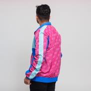 Pink Dolphin Mr. Positive Windbreaker tmavě růžová / modrá / světle modrá