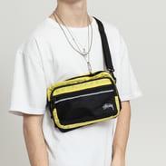 Stüssy Diamond Ripstop Shoulder Bag žlutá / černá