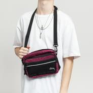 Stüssy Diamond Ripstop Shoulder Bag fialová / černá