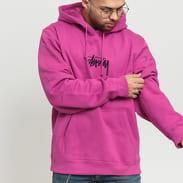 Stüssy Stock Logo App. Hood fialová
