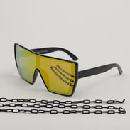 Urban Classics 102 Chain Sunglasses černé / žluté