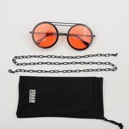 Urban Classics 104 Chain Sunglasses černé / oranžové
