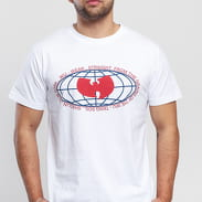 WU WEAR Globe Logo Tee biele