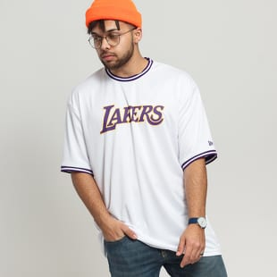 New Era NBA Tipping Wordmark Tee LA Lakers