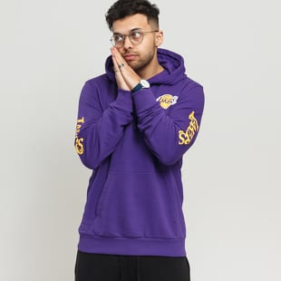 New Era NBA Sleeve Wordmark Hoody LA Lakers