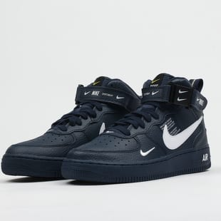 Nike Air Force 1 Mid LV8 (GS) obsidian / white - black
