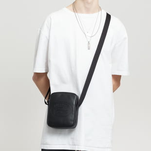 LACOSTE Casual Embossed Lettering Vertical Leather Bag