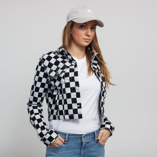 Urban Classics Ladies Short Check Twill Jacket
