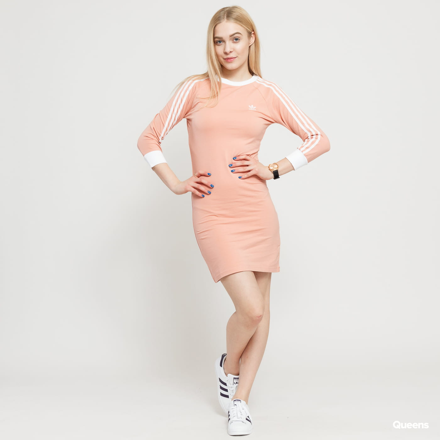 5a4187624737 Šaty adidas Originals 3 Stripes Dress (DV2565)– Queens 💚