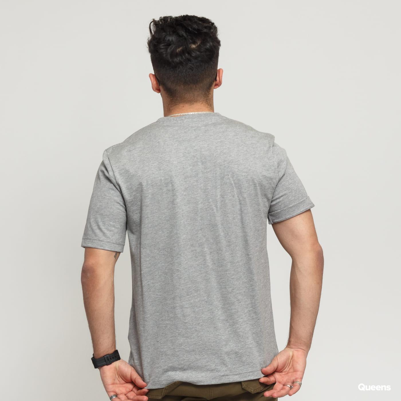 BAND OF OUTSIDERS B Logo Printed SS T-shirt melange šedé / modré