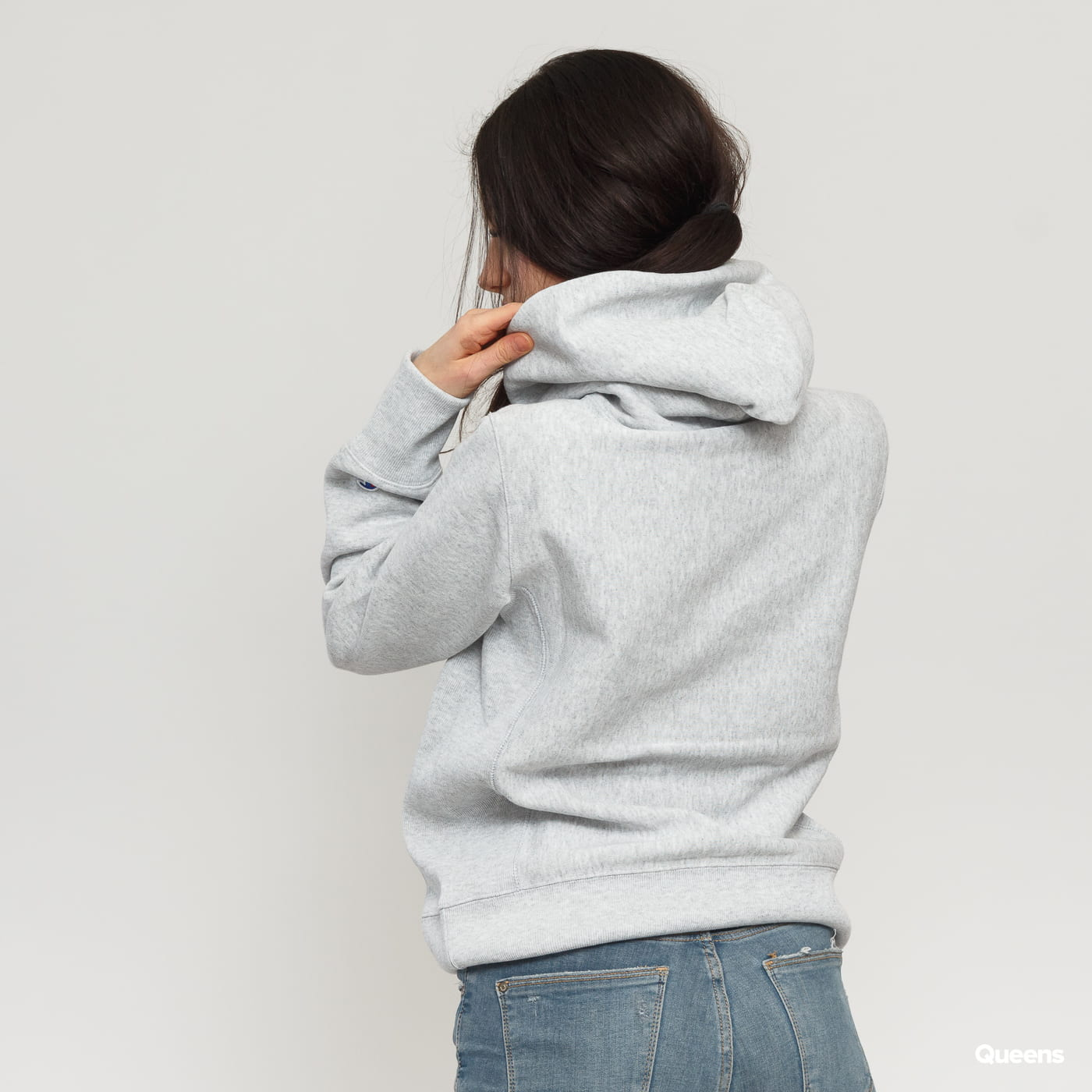 Champion Hooded Sweatshirt šedá