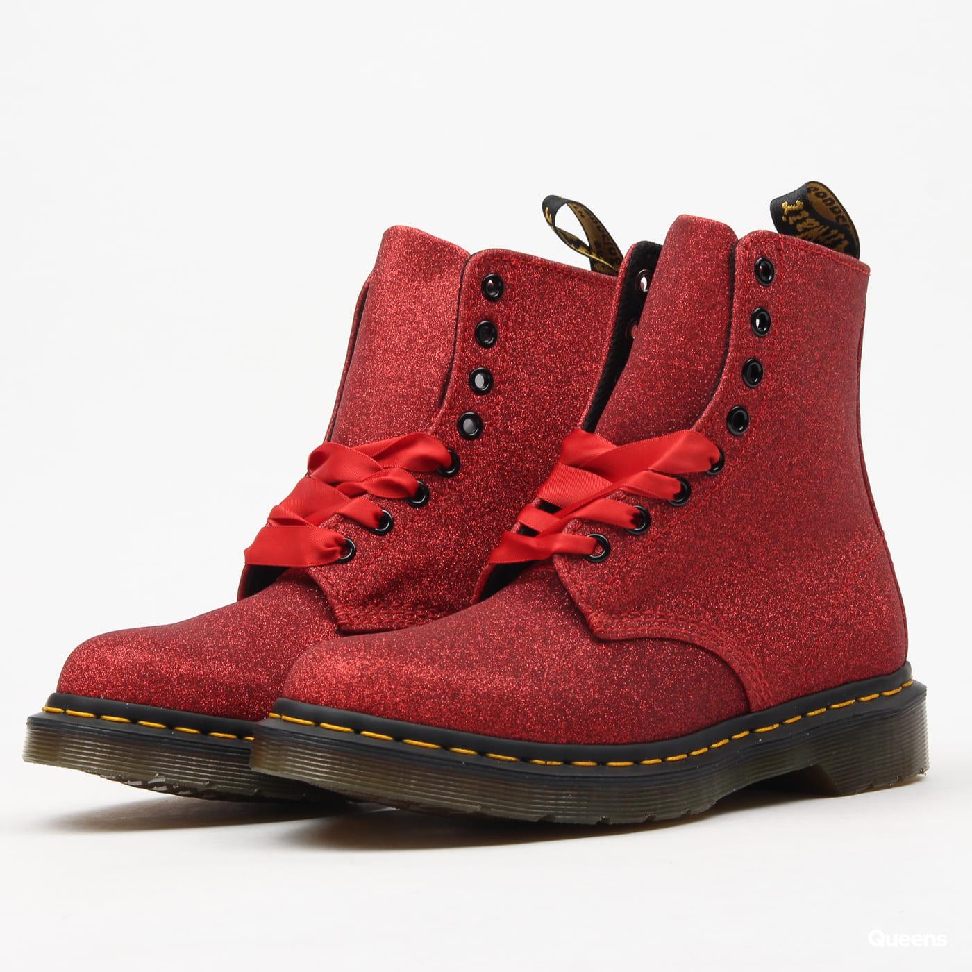 59c2a7221ffa Women's winter boots Dr. Martens 1460 Pascal Glitter red fine glitter pu  (DM24836902) – Queens 💚