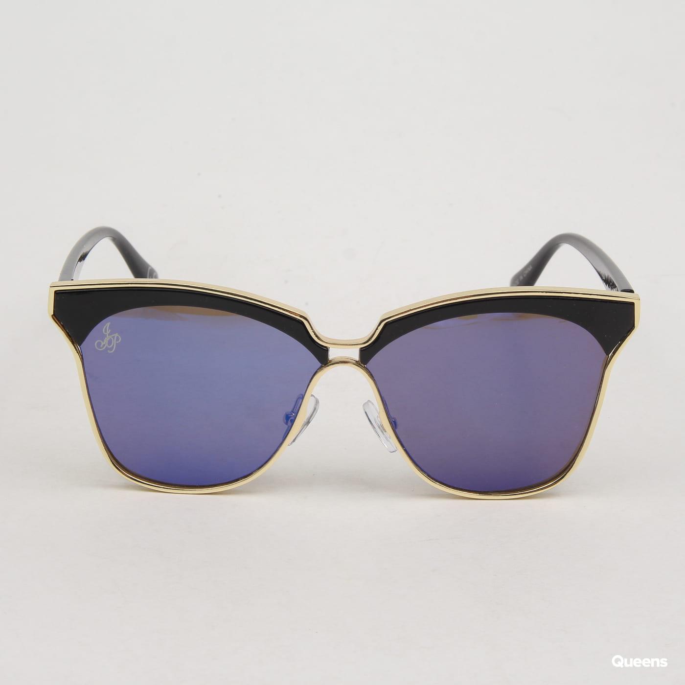 Jeepers Peepers Cat Eye modré / čierne / zlaté