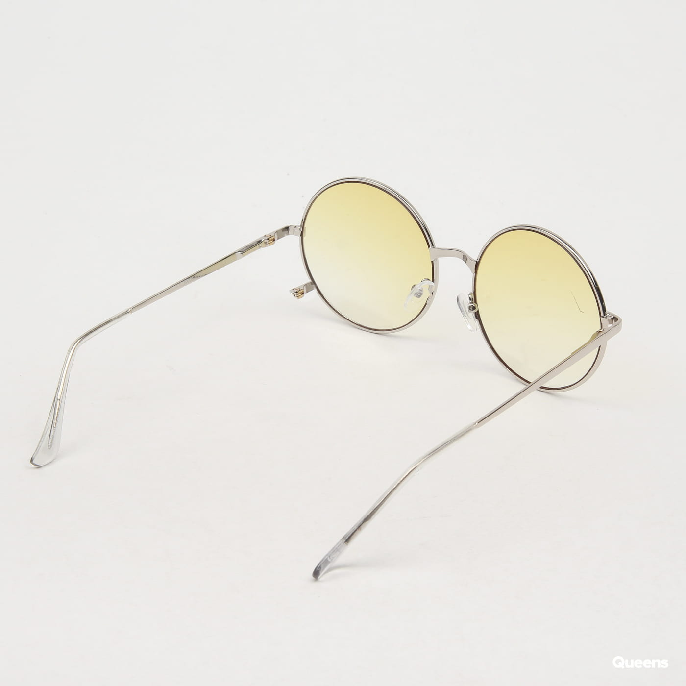 Jeepers Peepers Clear Yellow Round Sunglasses žlté / strieborné