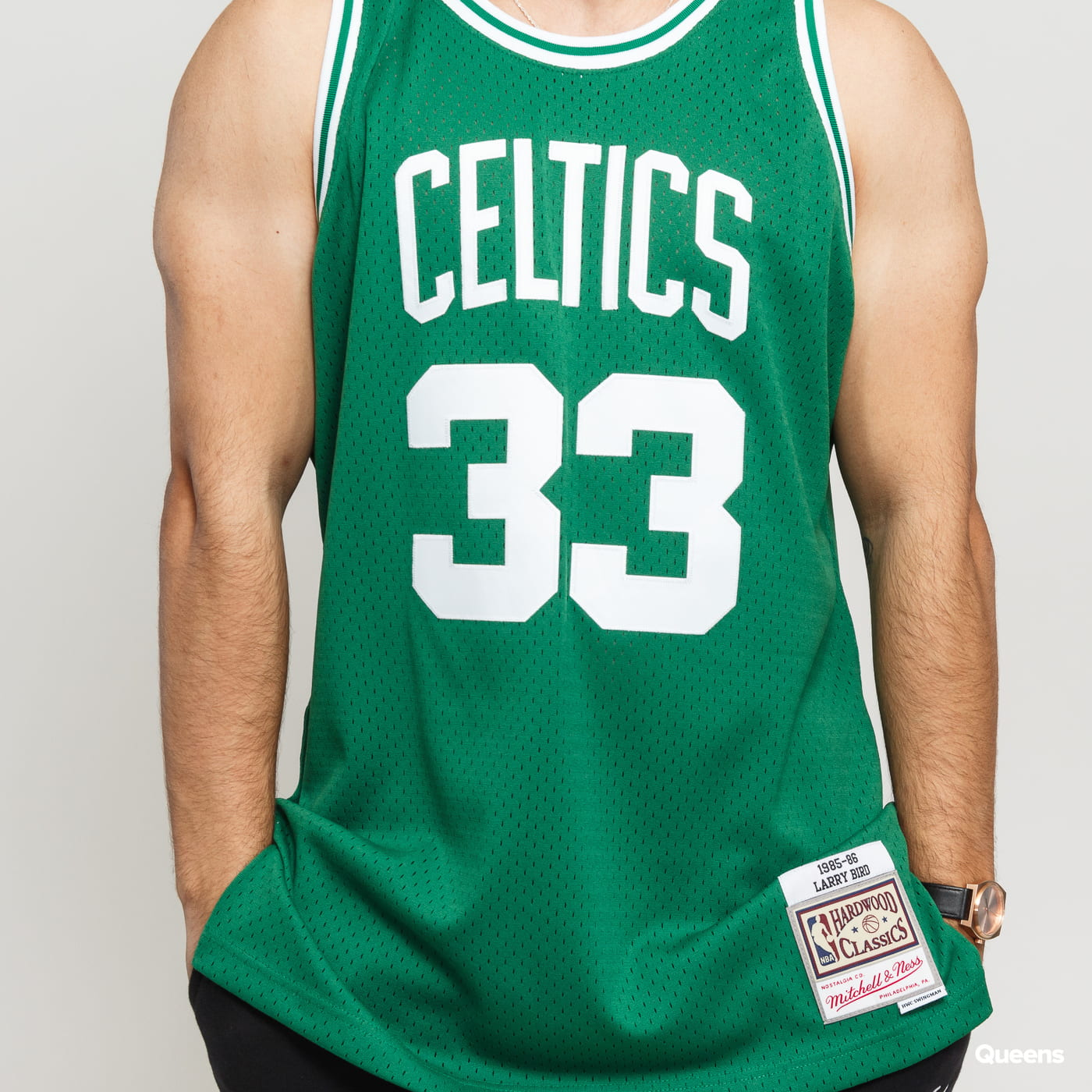 Mitchell & Ness NBA Swingman Jersey Boston Celtics Larry Bird grün / weiß