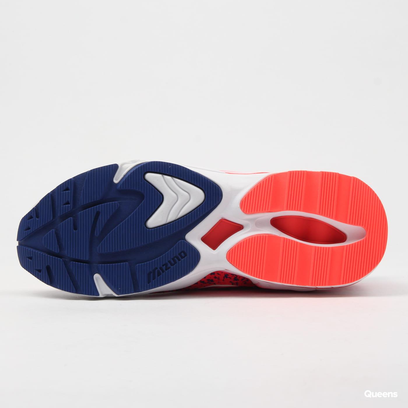 Mizuno Wave Rider 1 white / fiery coral / mazarine blue