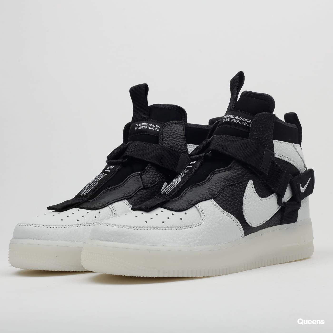 Nike Air Force 1 Utility MId off white / black - white