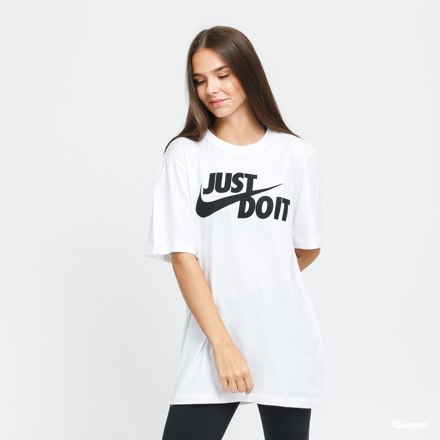 Nike M NSW Tee Just Do It Swoosh biele