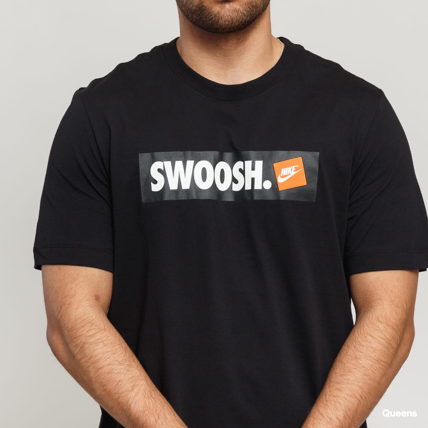 Nike M NSW Tee Swoosh Bmpr Stk black satin