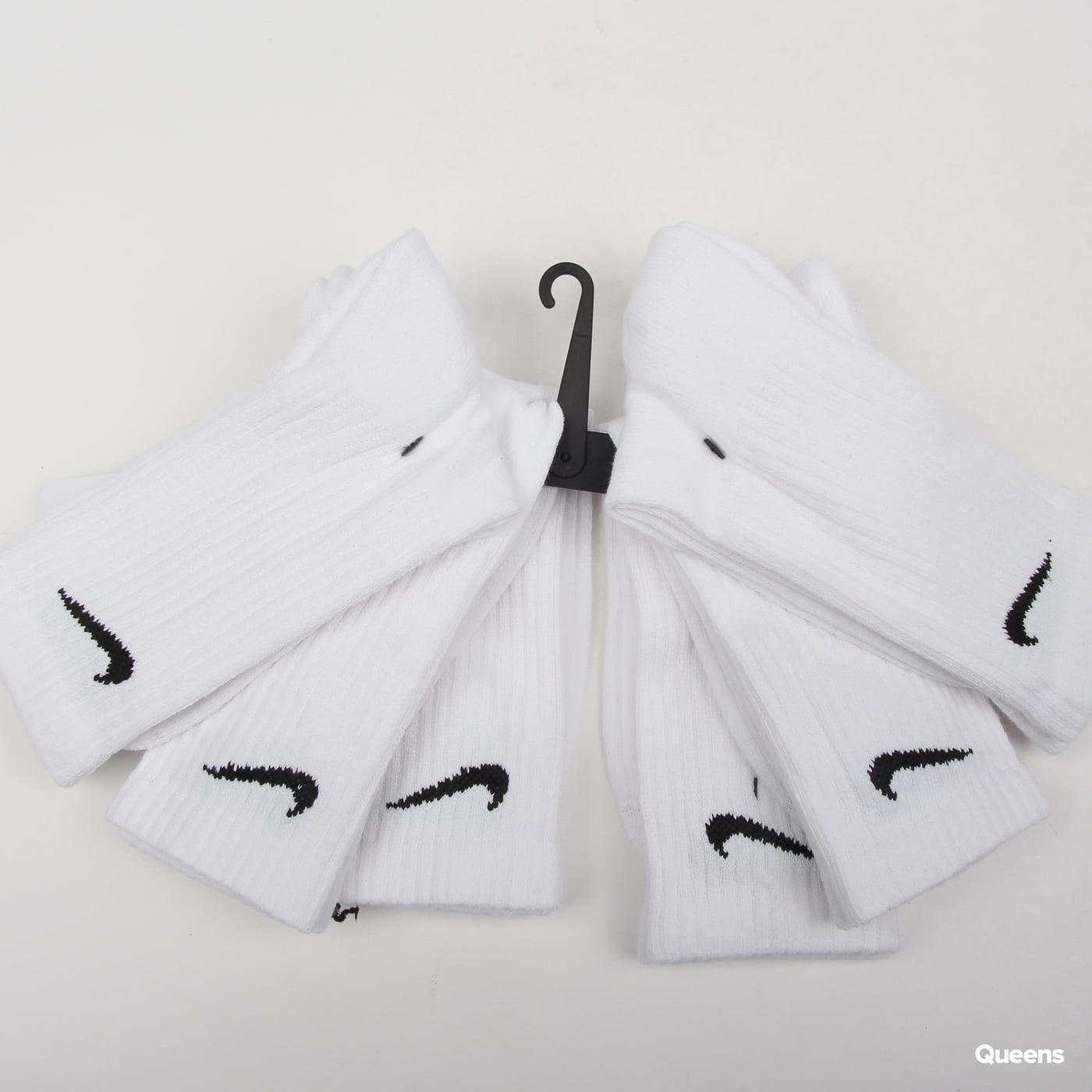 Nike U NK Everyday Cush Crew 6 Pack biele