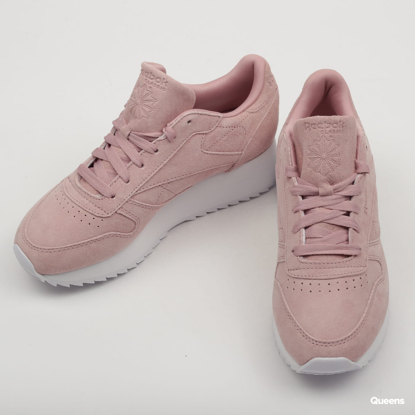 b0a5a71aefced Zoom in Zoom in Zoom in Zoom in Zoom in. Reebok Classic Leather Double  smoky rose   white