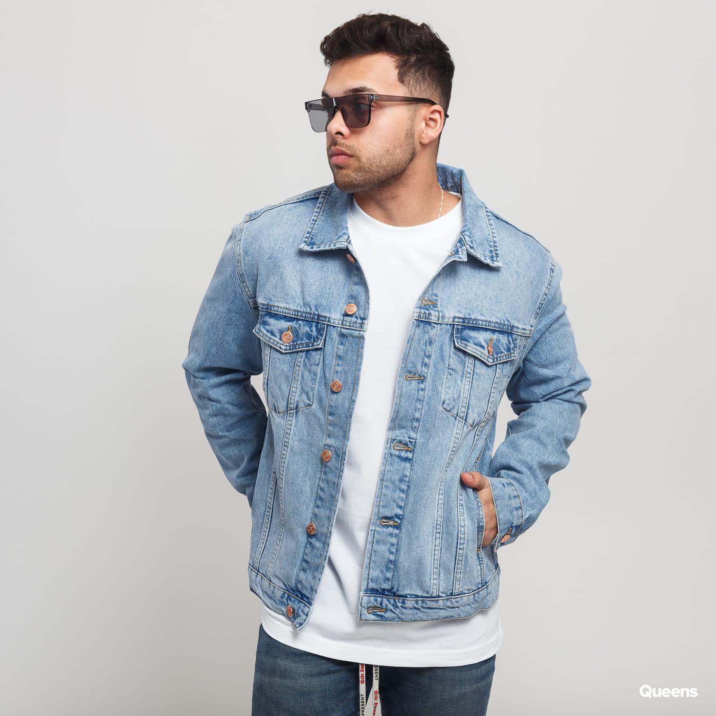first look hottest sale full range of specifications Soulland Shelton Denim Jacket light blue