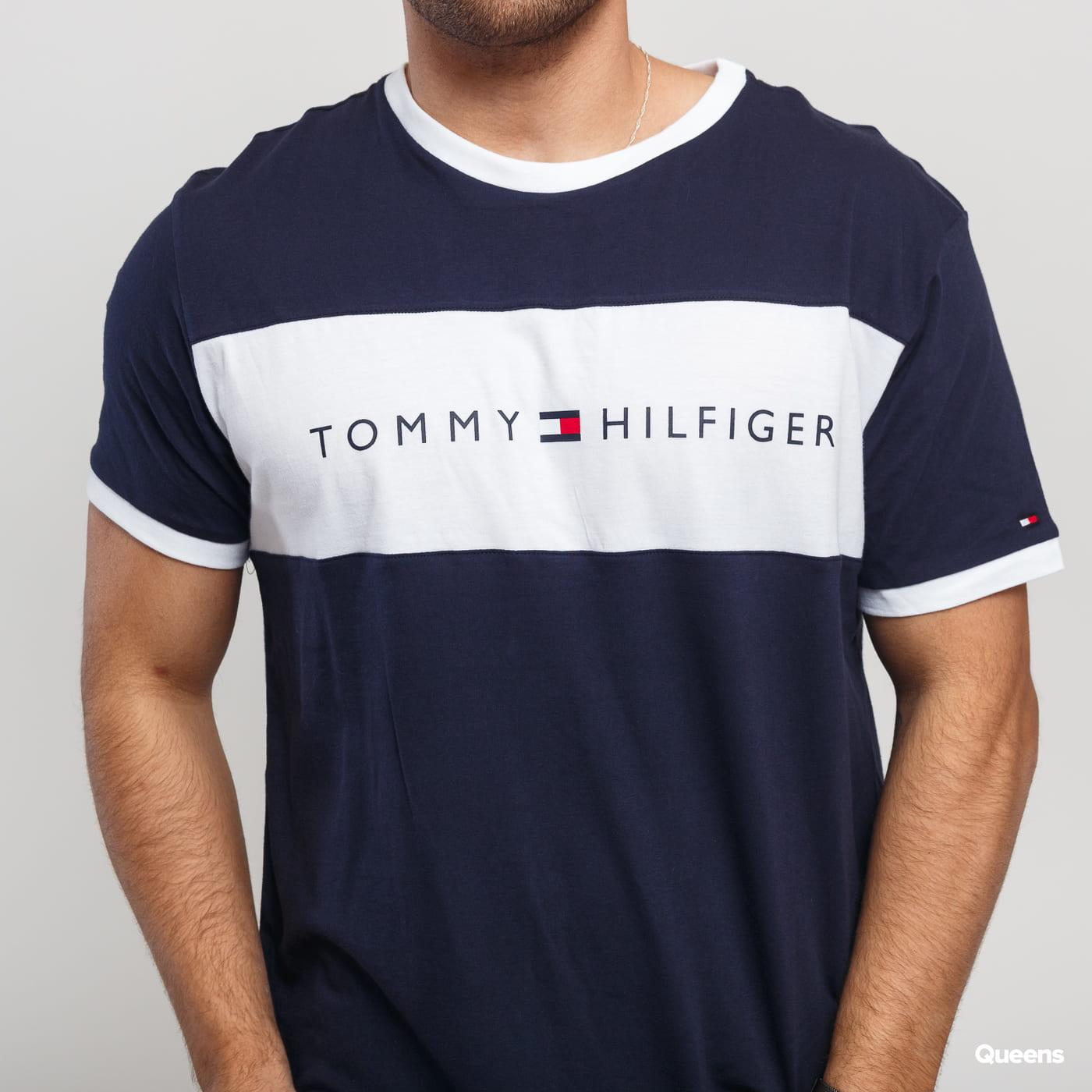 Tommy Hilfiger CN SS Tee Logo Flag C/O navy