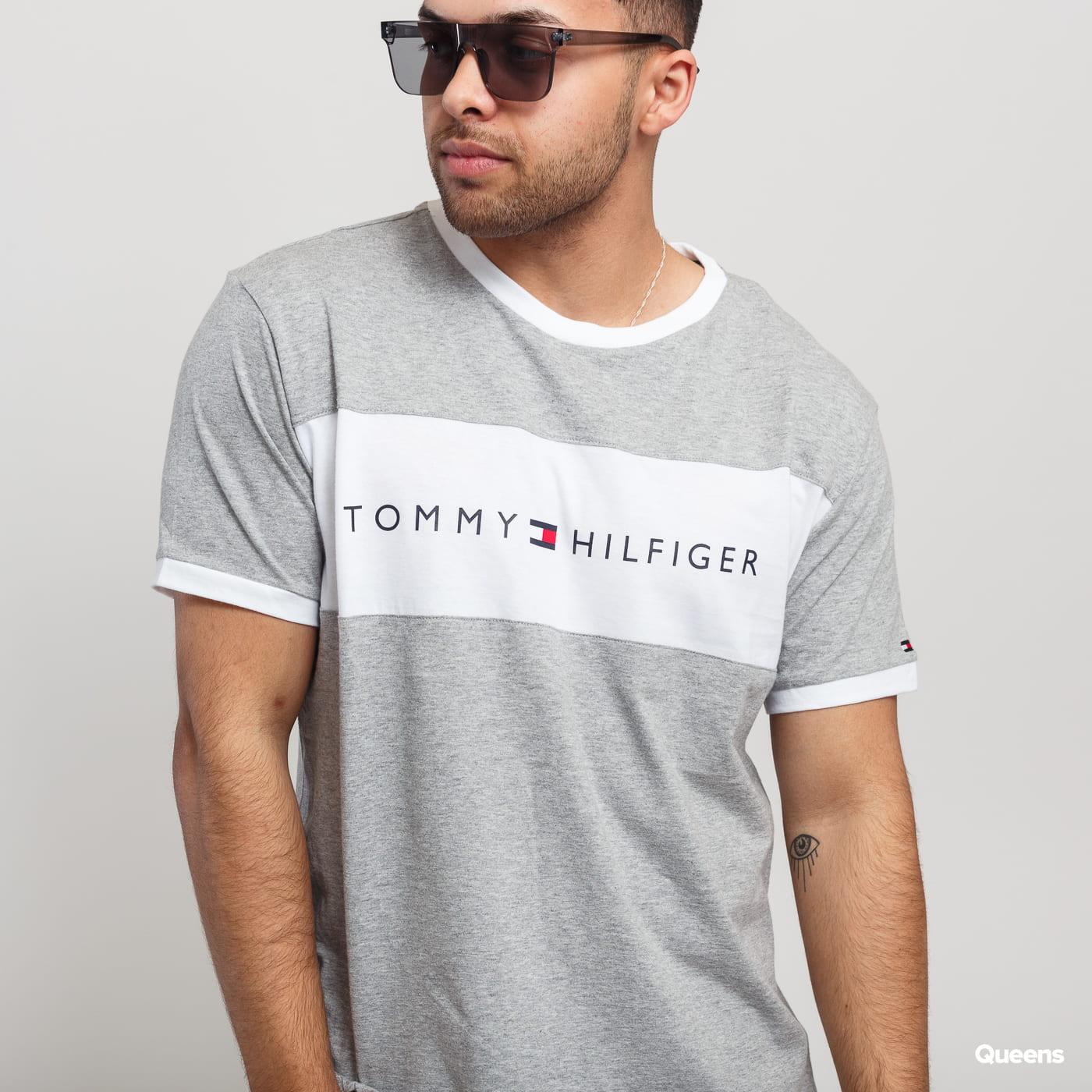 Tommy Hilfiger CN SS Tee Logo Flag C/O melange šedé