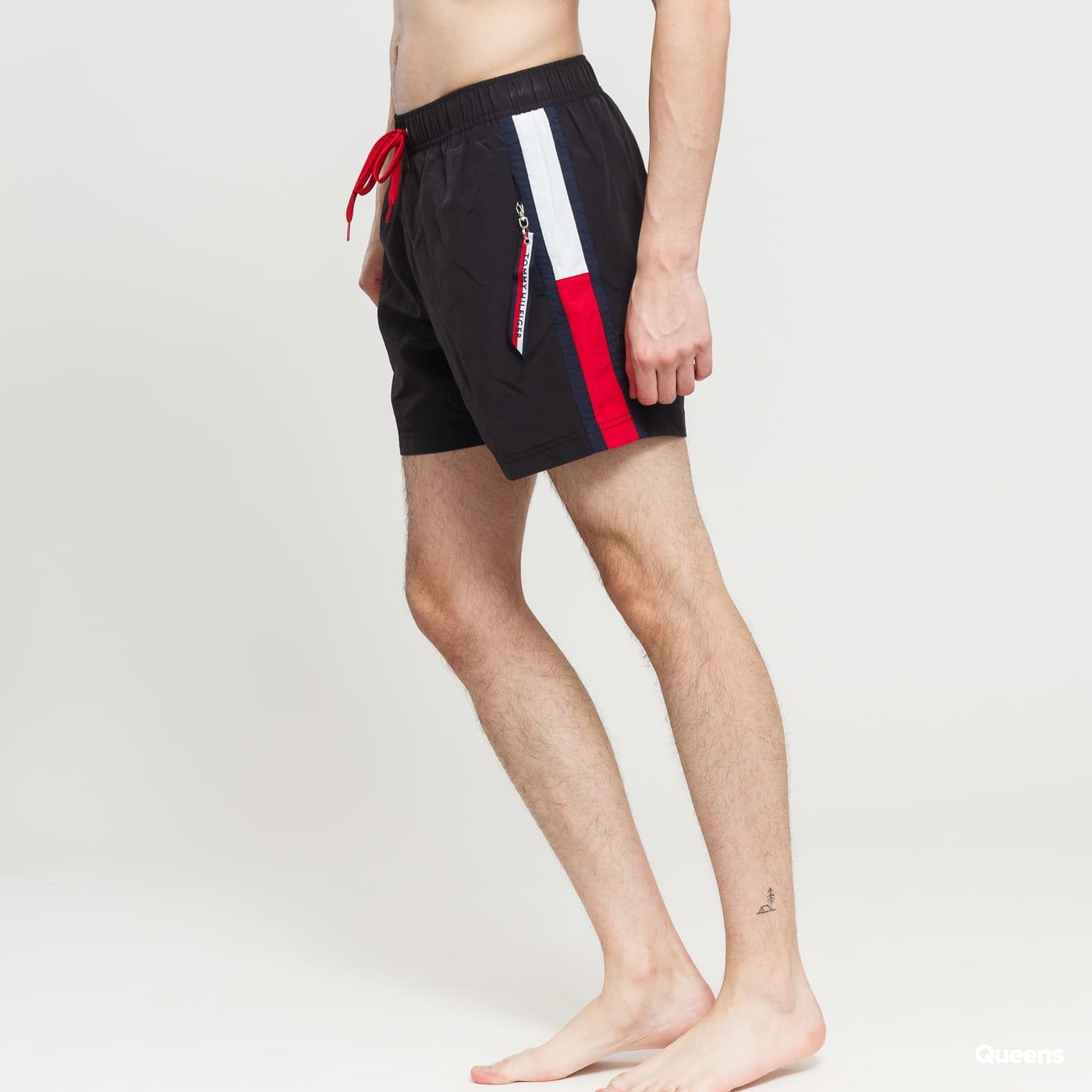 8a2e85109e Men Swim Shorts Tommy Hilfiger Slim Fit Medium Drawstring black   red    white (UM0UM01079 095) – Queens 💚