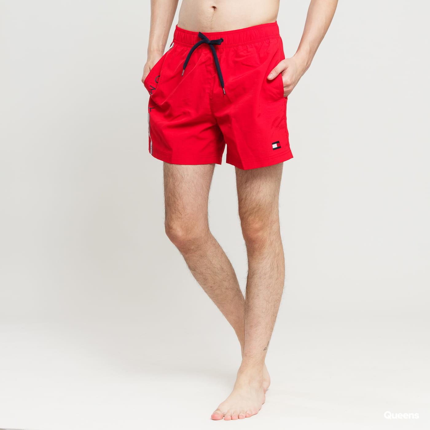 281cccd170 Men Swim Shorts Tommy Hilfiger Slim Fit Medium Drawstring red   navy    white (UM0UM01416 669) – Queens 💚
