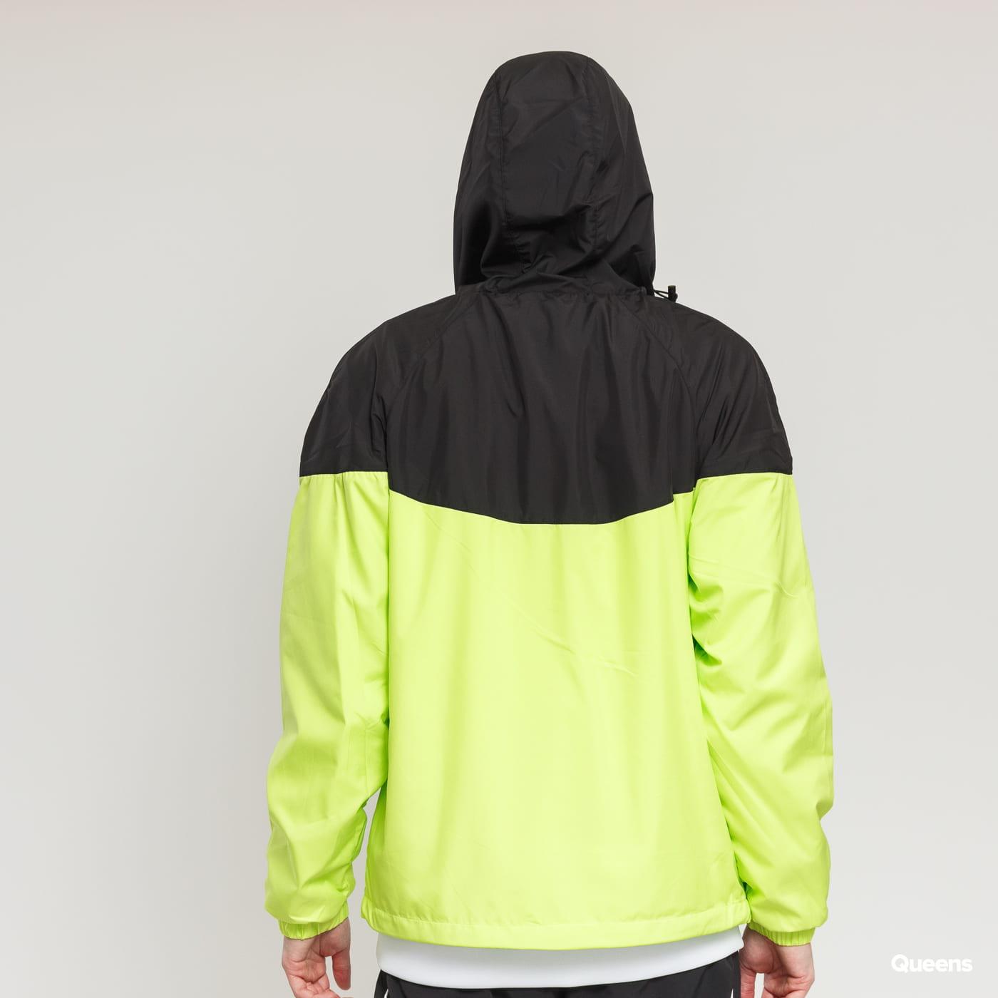 Urban Classics 2-Tone Tech Windrunner gelbgrün / schwarz