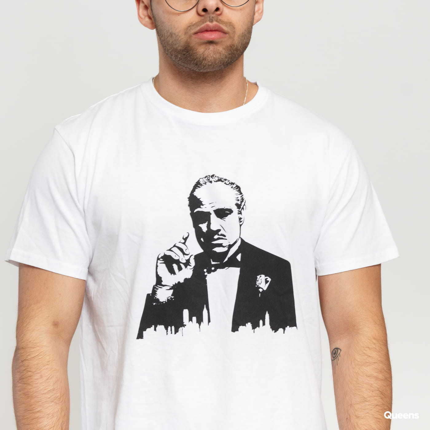 Urban Classics Godfather Painted Portrait Tee biele