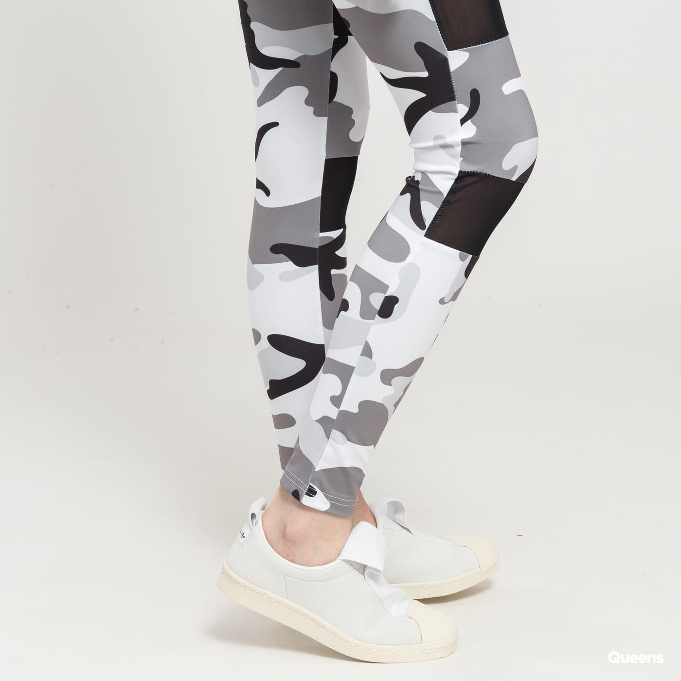 Urban Classics Ladies Camo Tech Mesh Leggings camo grau / weiß / schwarz