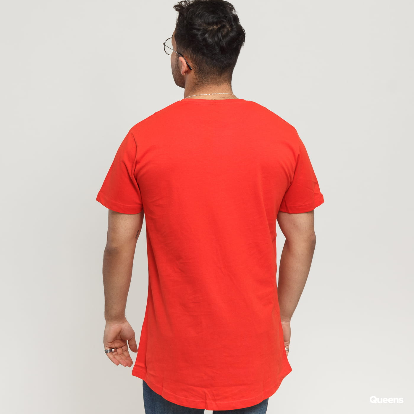 Urban Classics Shaped Long Tee dunkelorange