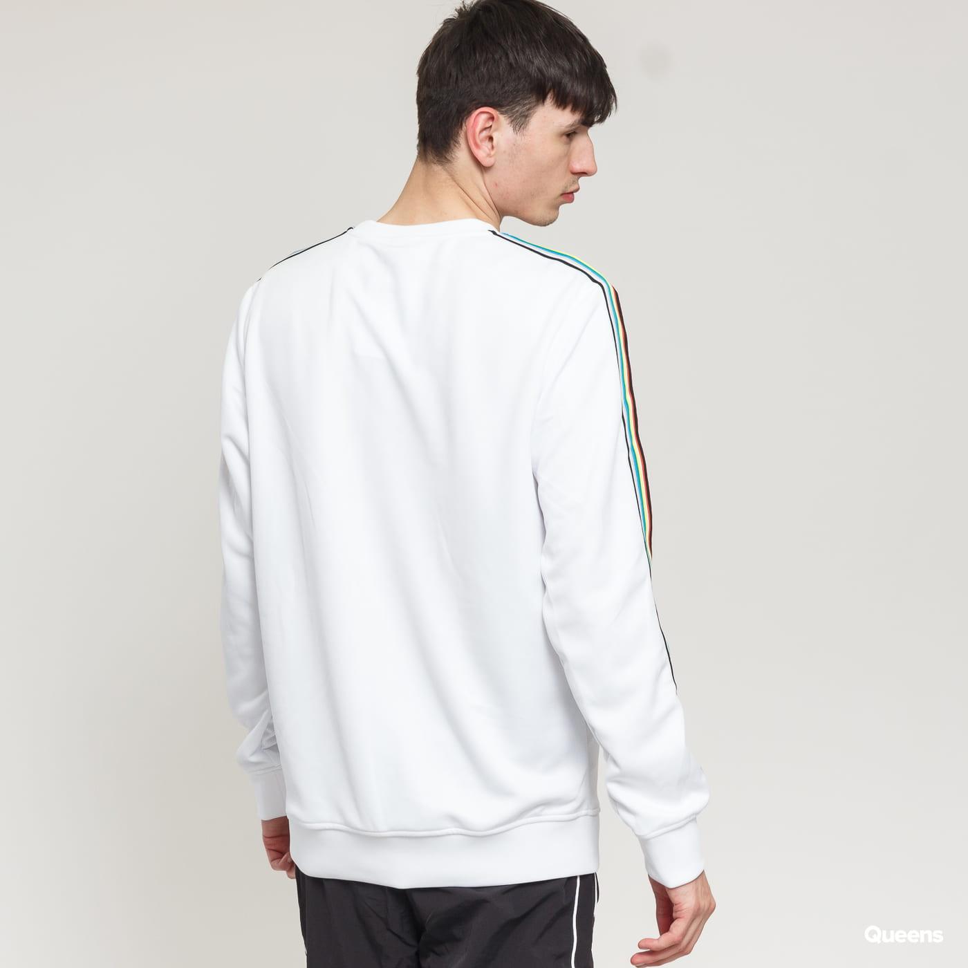 Urban Classics Sleeve Taped Crewneck weiß / multicolor