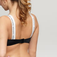 Calvin Klein Bandeau Bikini Top černé / bílé