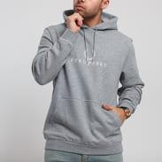 FRED PERRY Embroidered Hooded Sweatshirt melange šedá