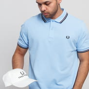 FRED PERRY Twin Tipped Fred Perry Shirt modré