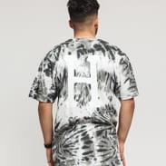 HUF Classic H Tie-Dye Tee šedé / černé / bílé