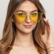 Jeepers Peepers Clear Clubmaster žluté / stříbrné