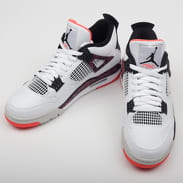 Jordan Air Jordan 4 Retro white / black - bright crimson