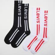Levi's ® 168SF Vintage Cut 2 Pack Socks černé / bílé / červené